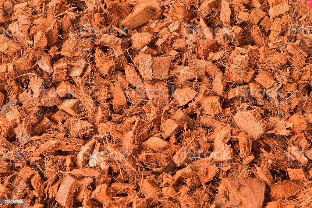 background of coconut spathe fiber stock photo