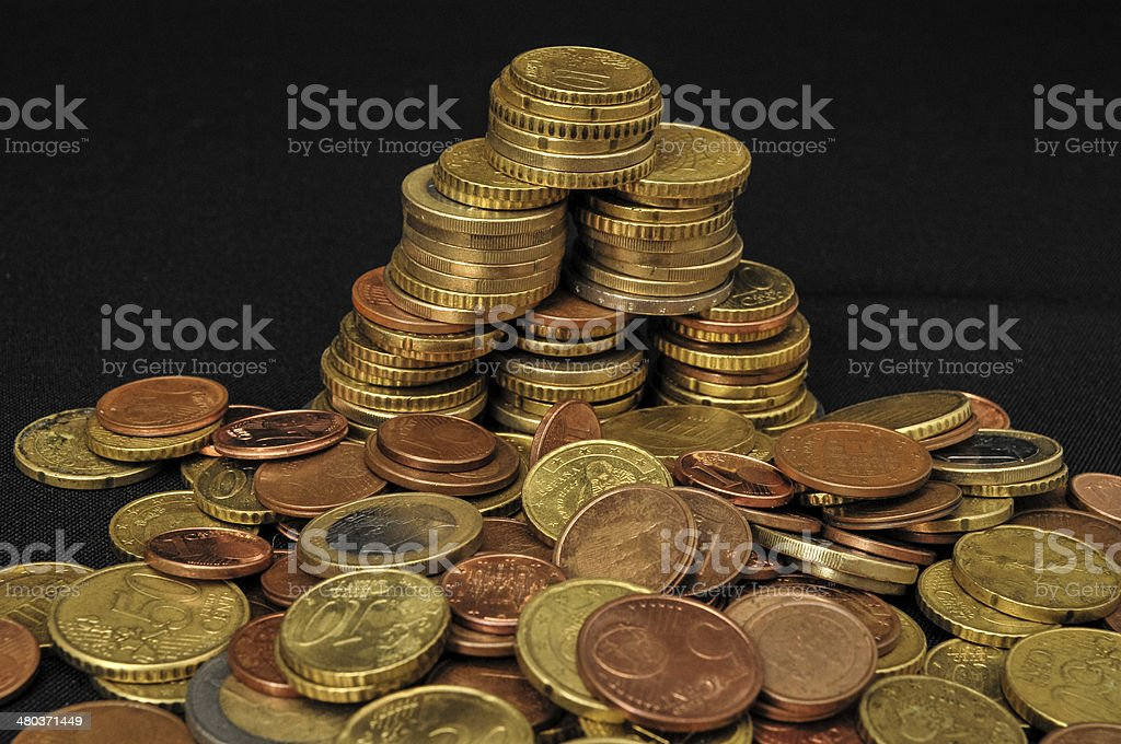 Background of Coins stock photo