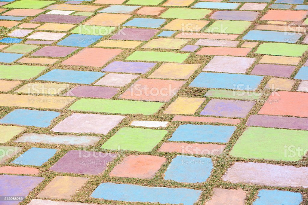 Background of colorful cement block stock photo