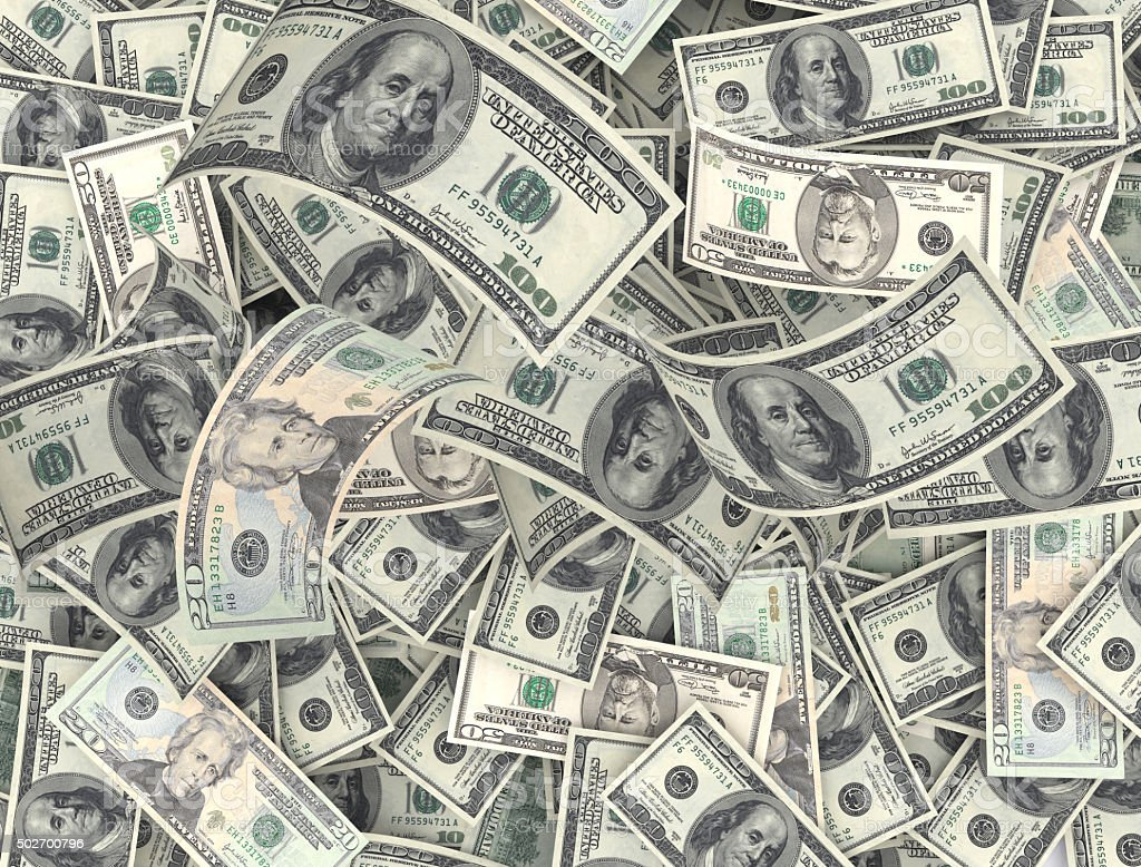 Background of dollars bank notes stock photo