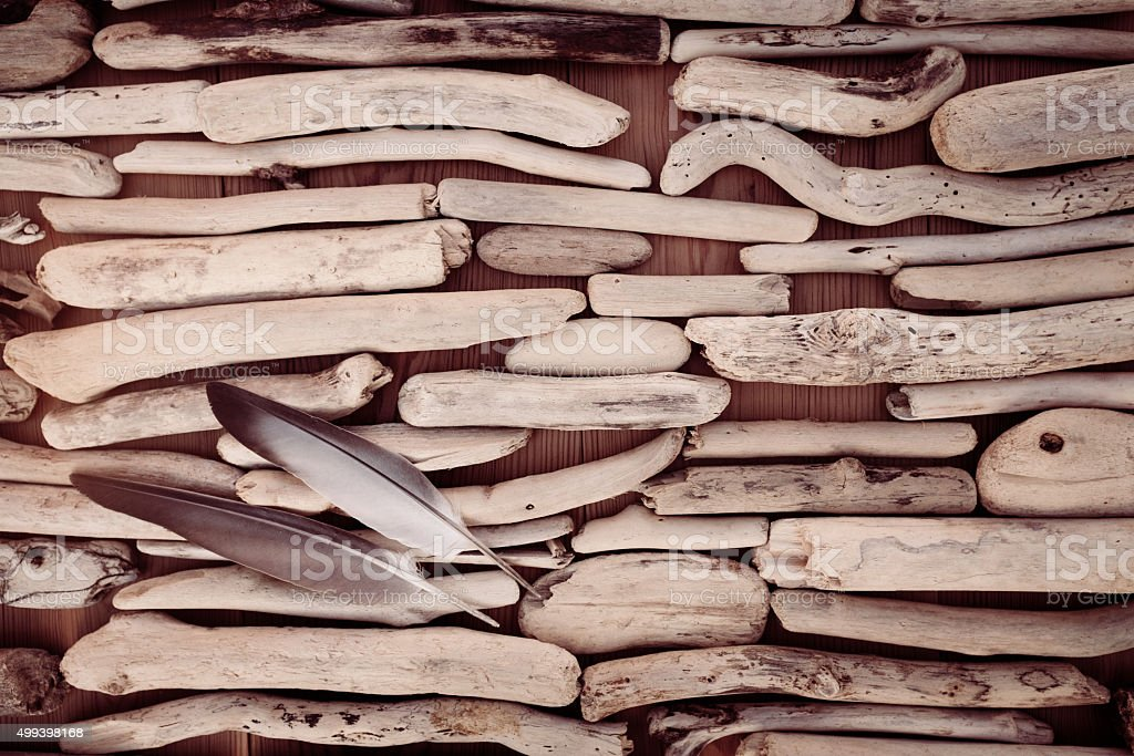 background of driftwoods stock photo