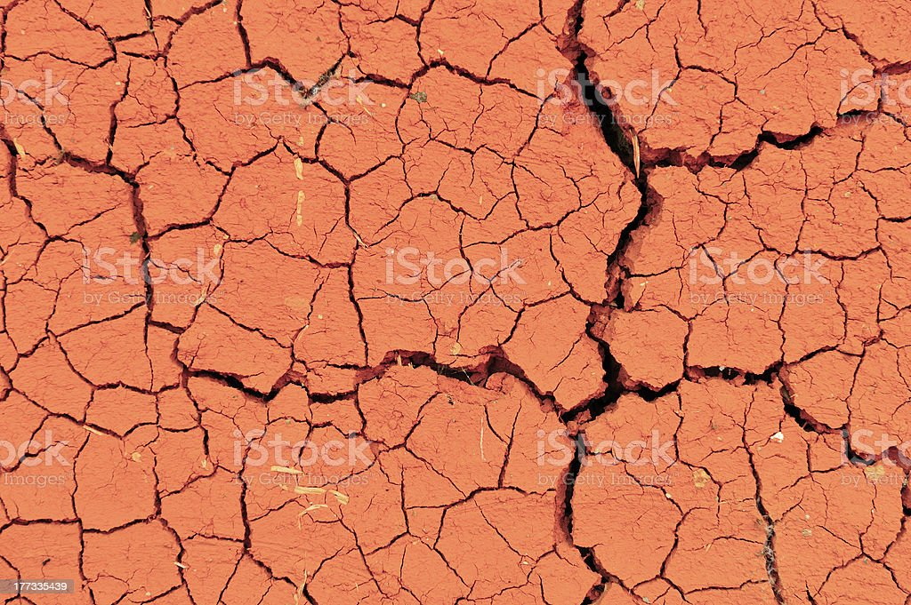 Background of Dry crack clay royalty-free stock photo