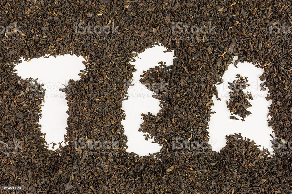 background of dry tea leaves stock photo
