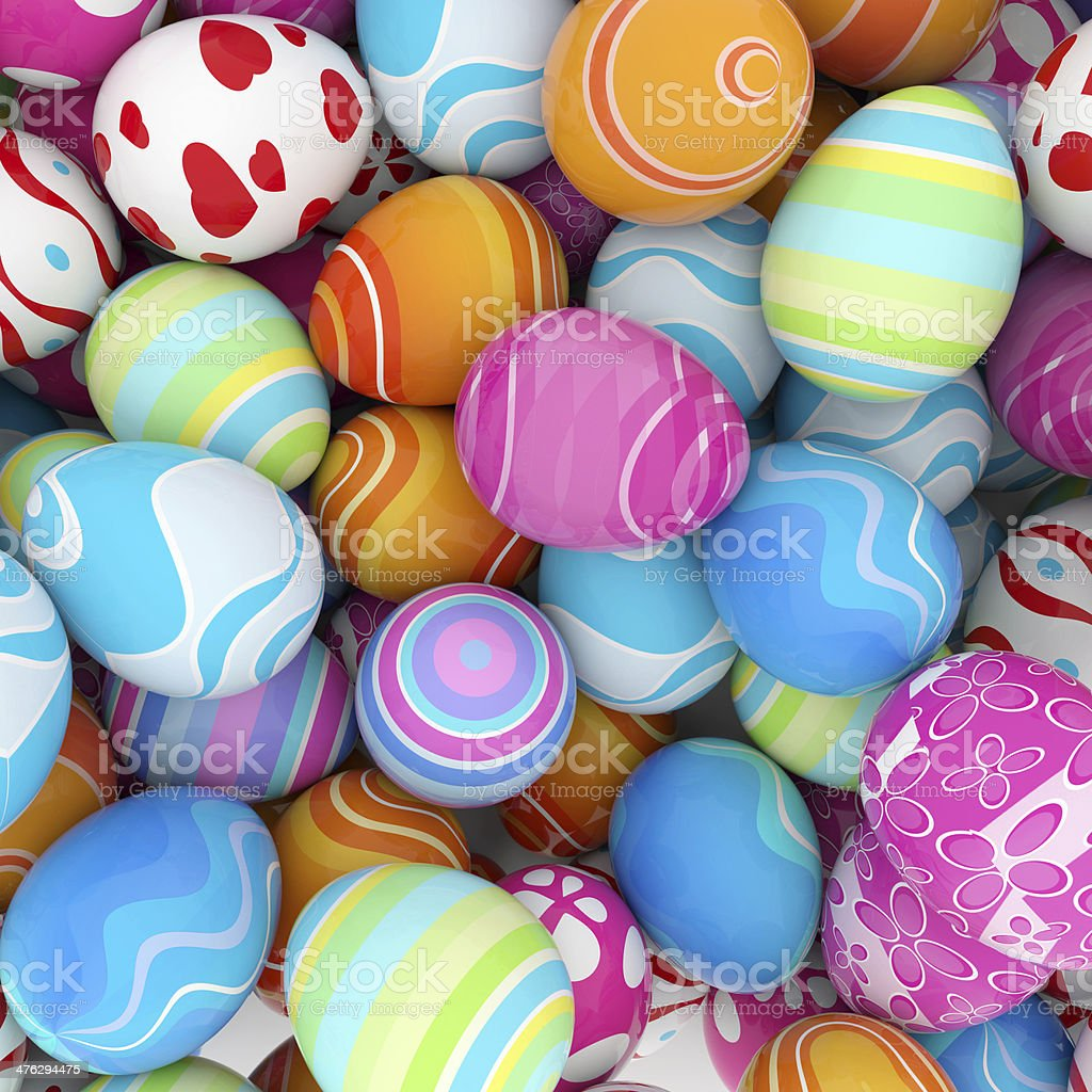background of easter eggs stock photo