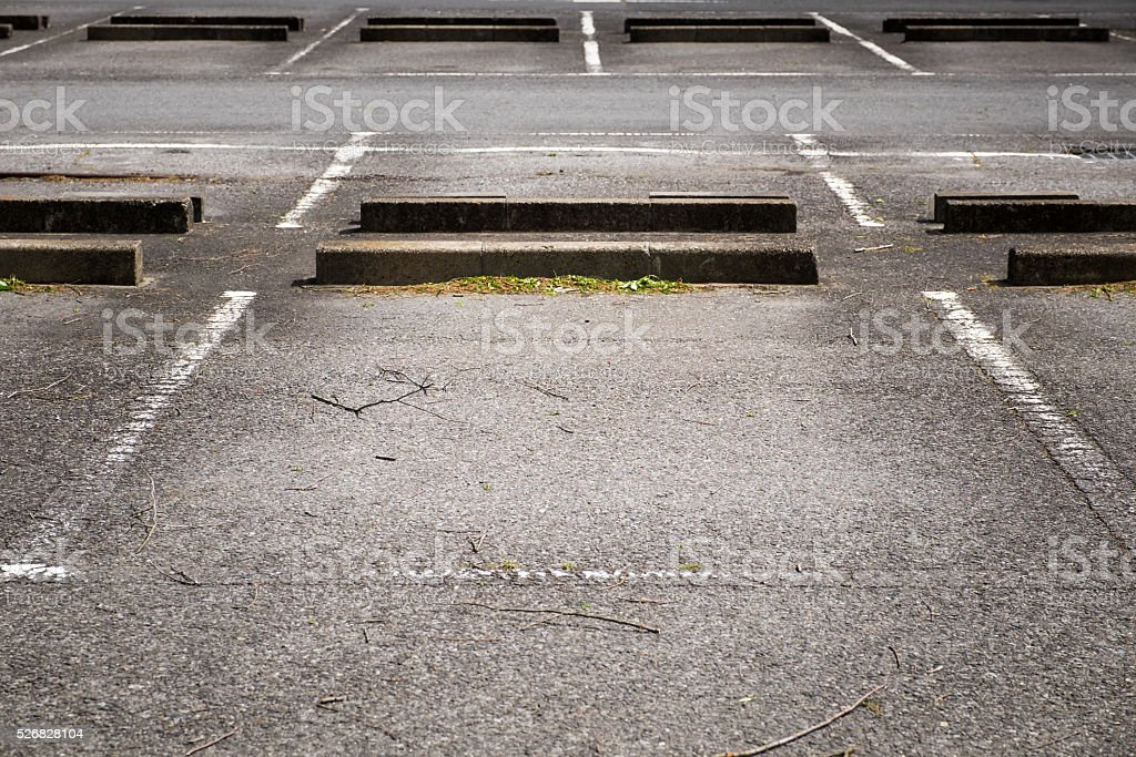 background of empty parking lot stock photo