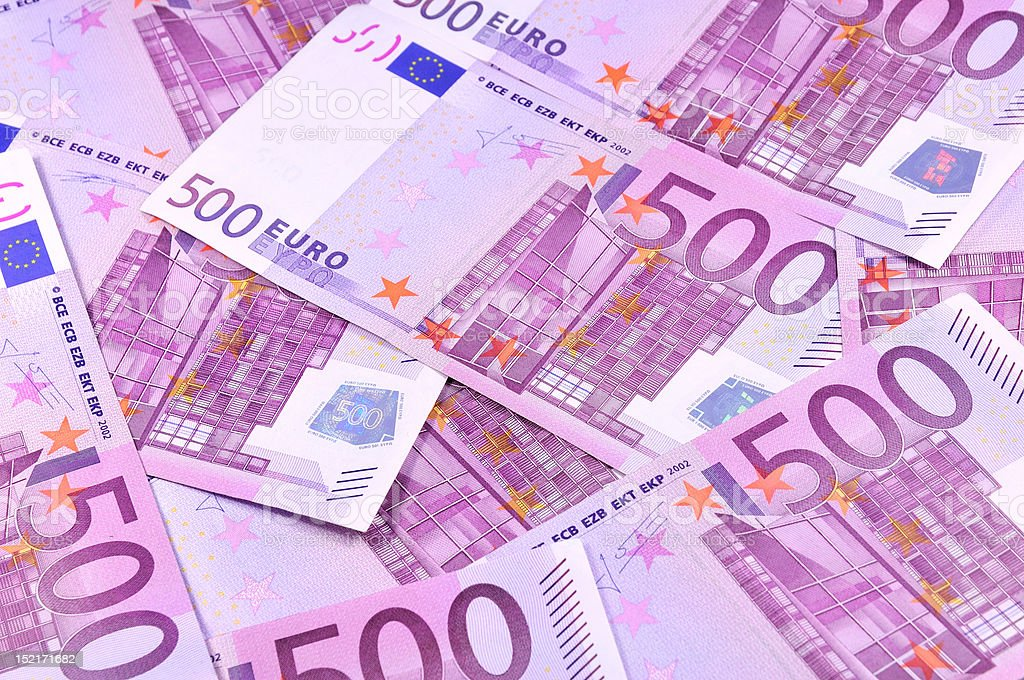 Background of euro banknotes royalty-free stock photo