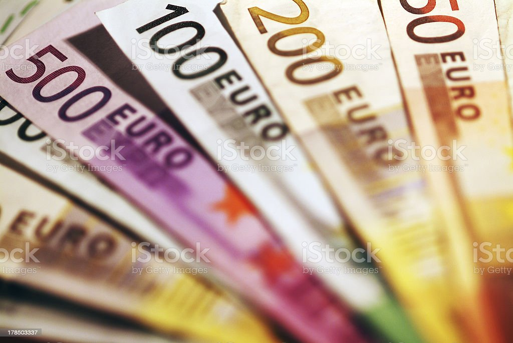 Background of euro bills. royalty-free stock photo