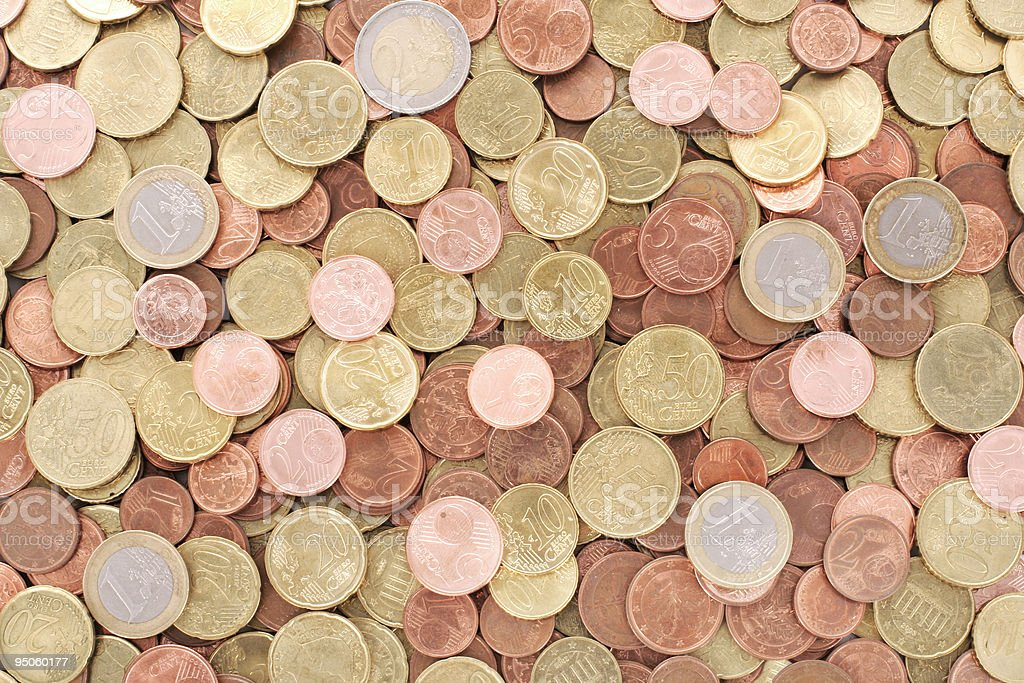 background of euro coins royalty-free stock photo