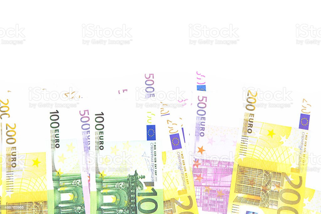 Background of euro on bottom stock photo
