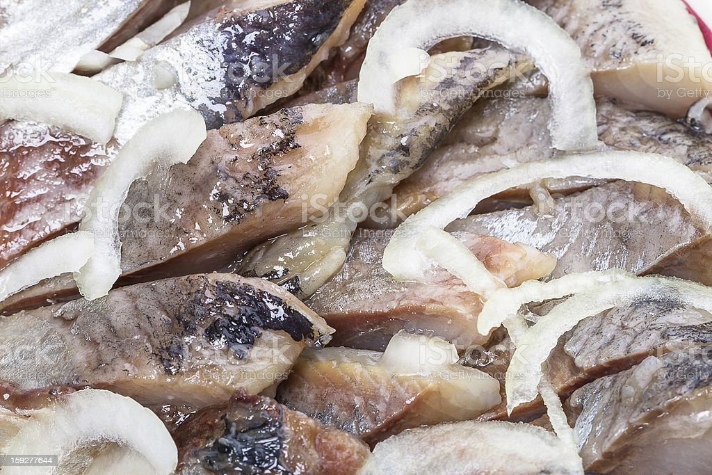 Background of fatty herring royalty-free stock photo