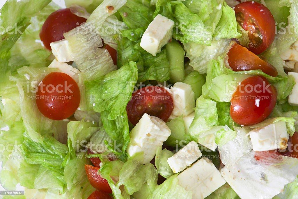 Background of fetta salad stock photo