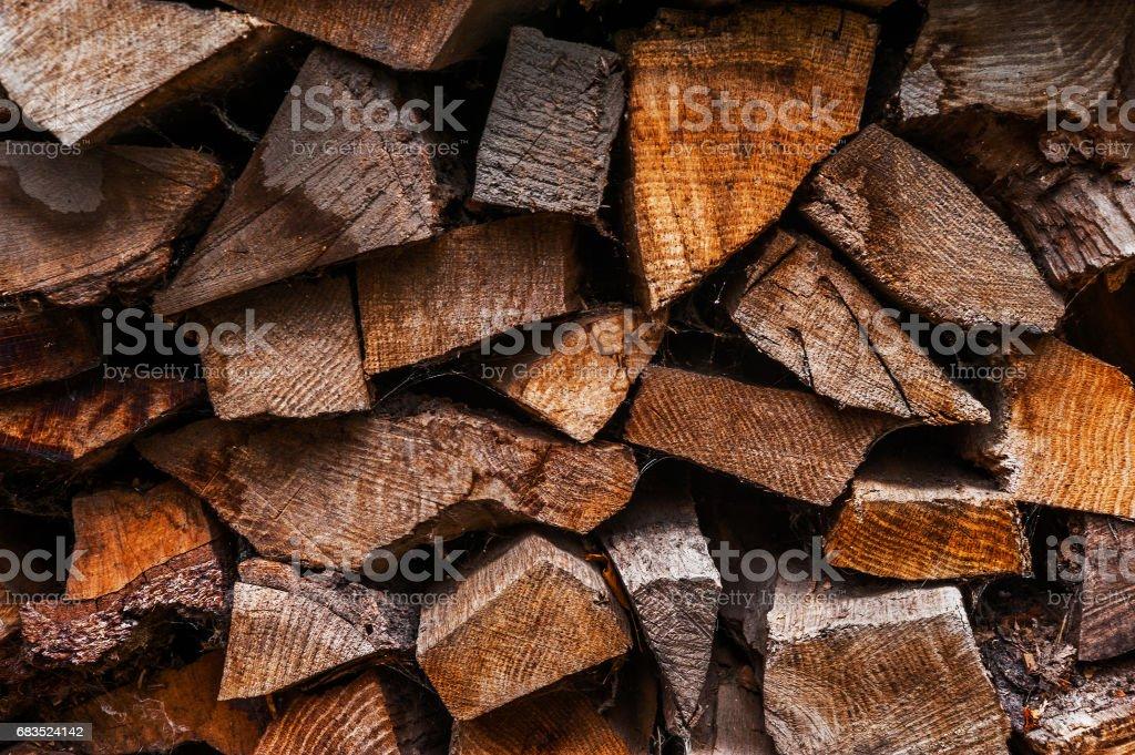 Background of firewood stock photo