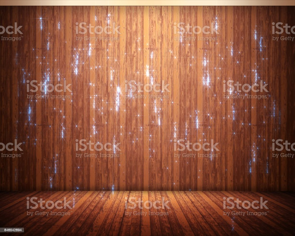 Background of brown flooring with sparks