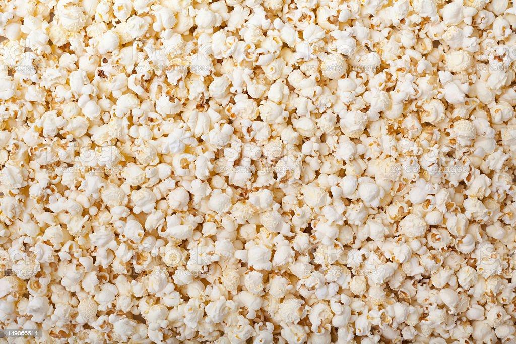 Background of fresh made popcorn stock photo