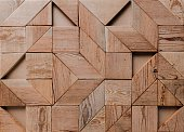background of geometric wood pieces.