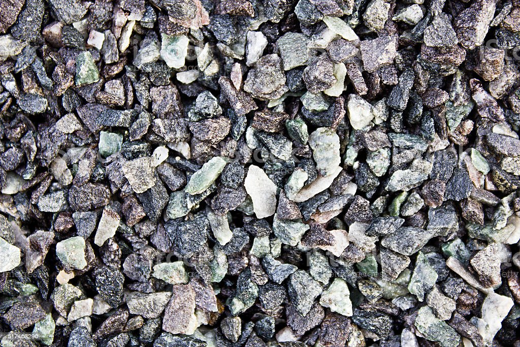 Background of gray rubble stock photo