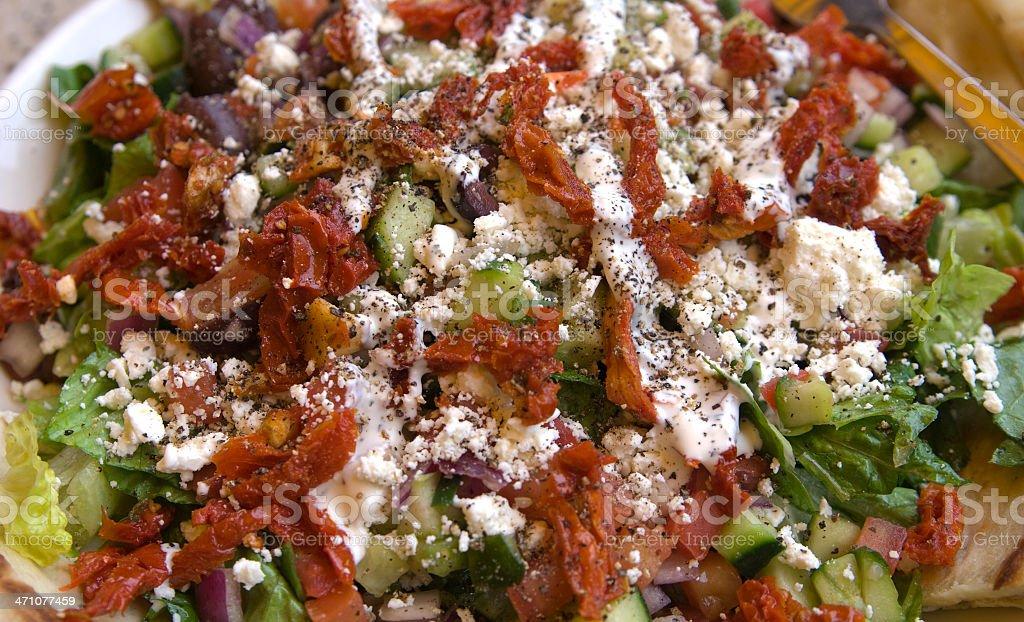 Background of Greek Salad royalty-free stock photo