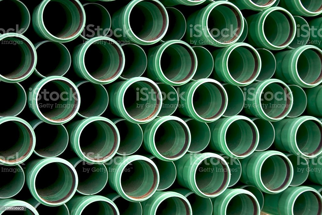Background of green pipes stock photo