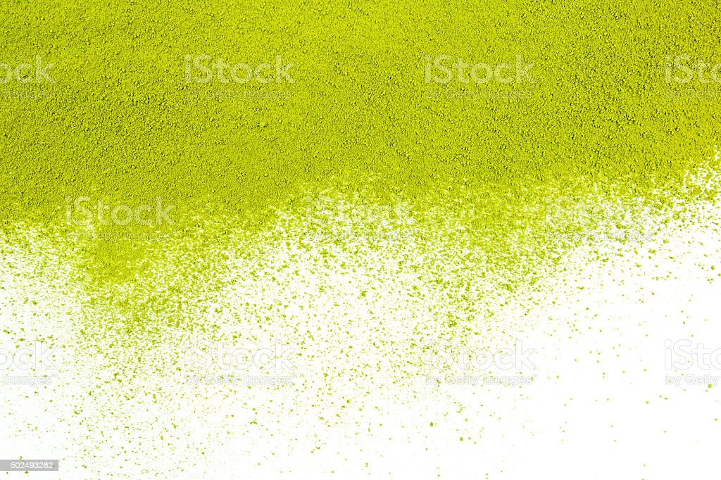 Background of green powder surface stock photo