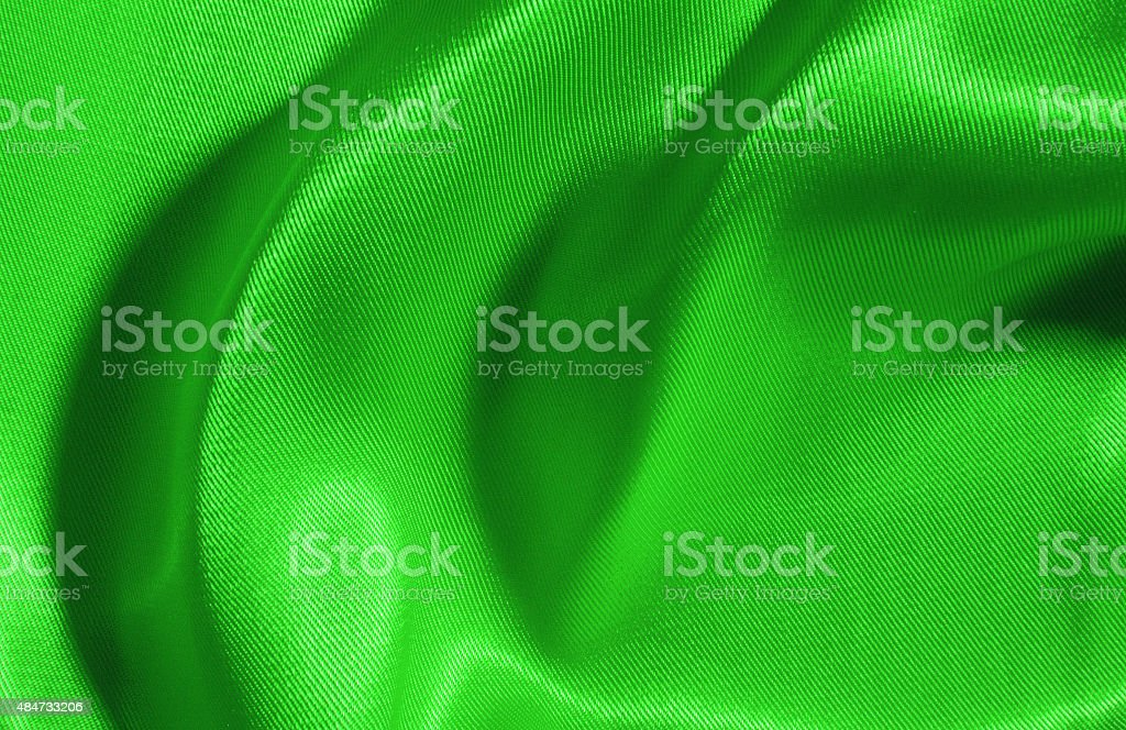 Background of green silk stock photo