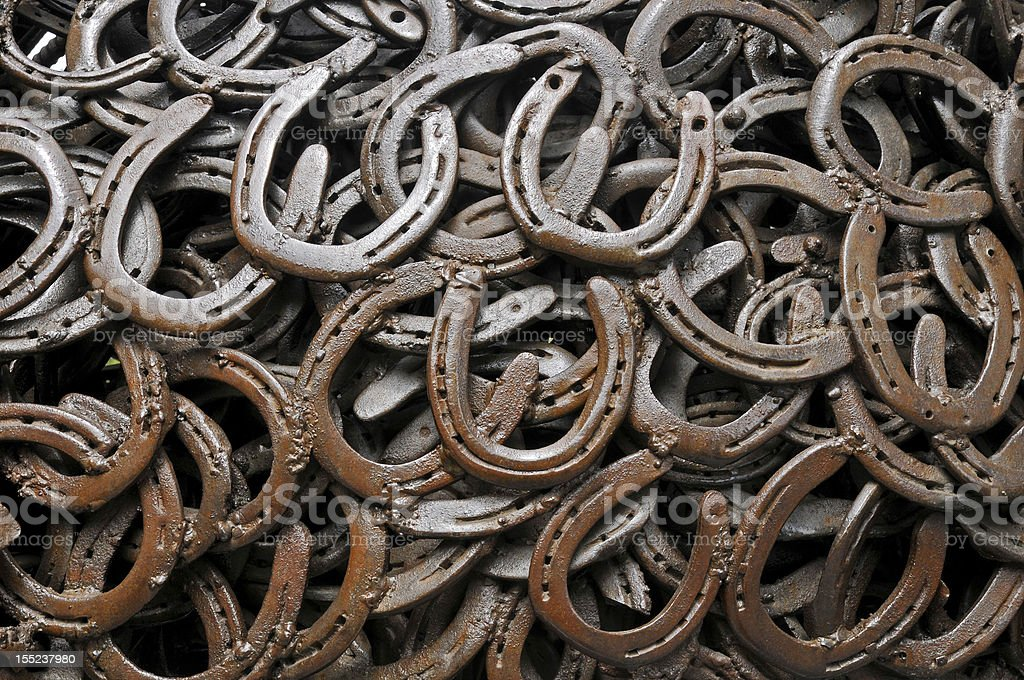 Background of horseshoe stock photo