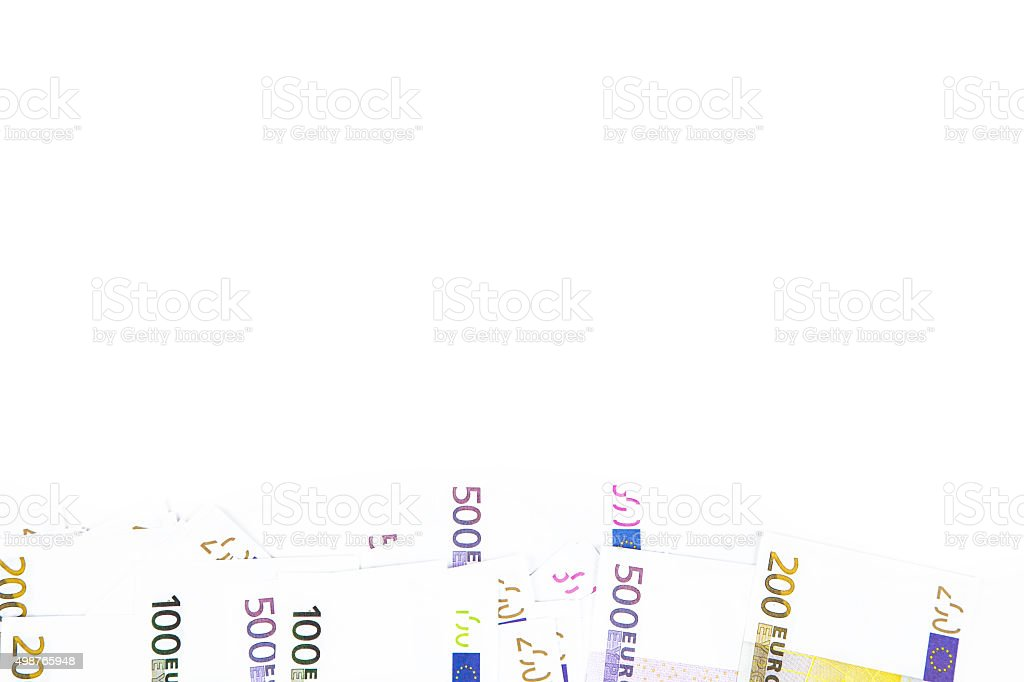 Background of hundred euro bottom stock photo