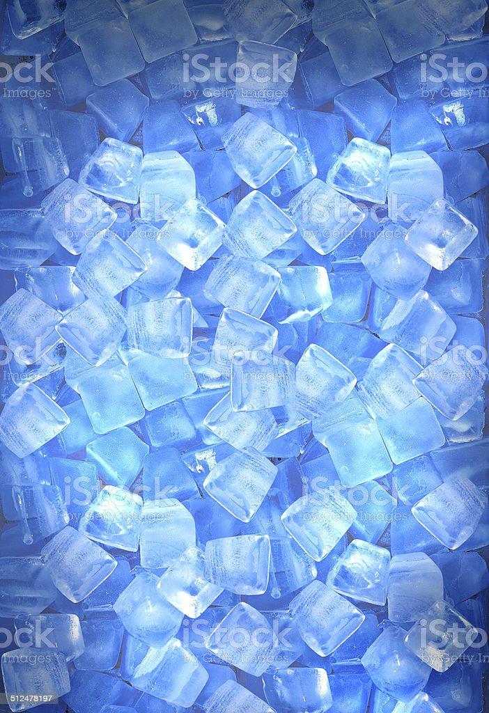 Background of ice cubes stock photo