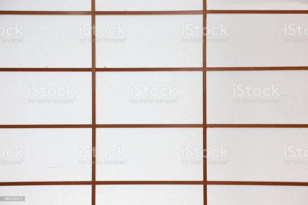background of Japanese sliding paper door stock photo