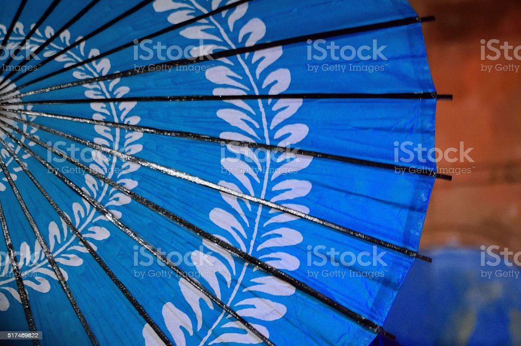 Background of Japanese Umbrella stock photo
