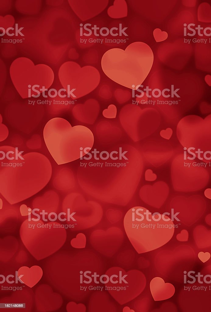 A background of light and dark red hearts royalty-free stock photo