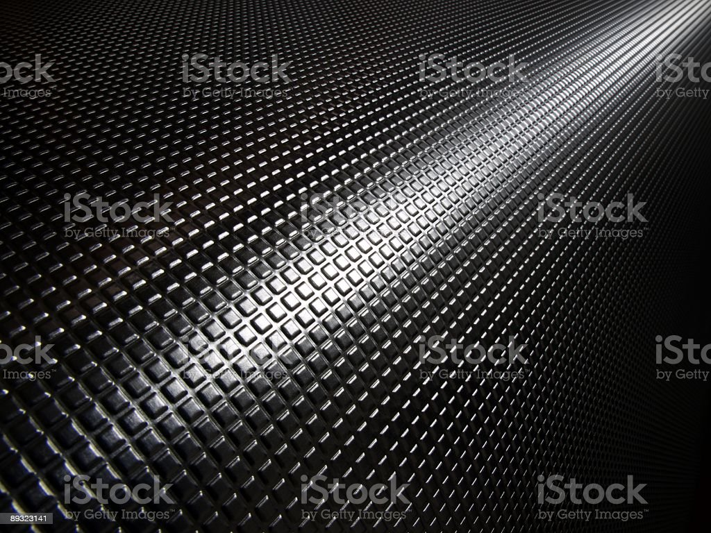 Background of little black squares sticking up stock photo