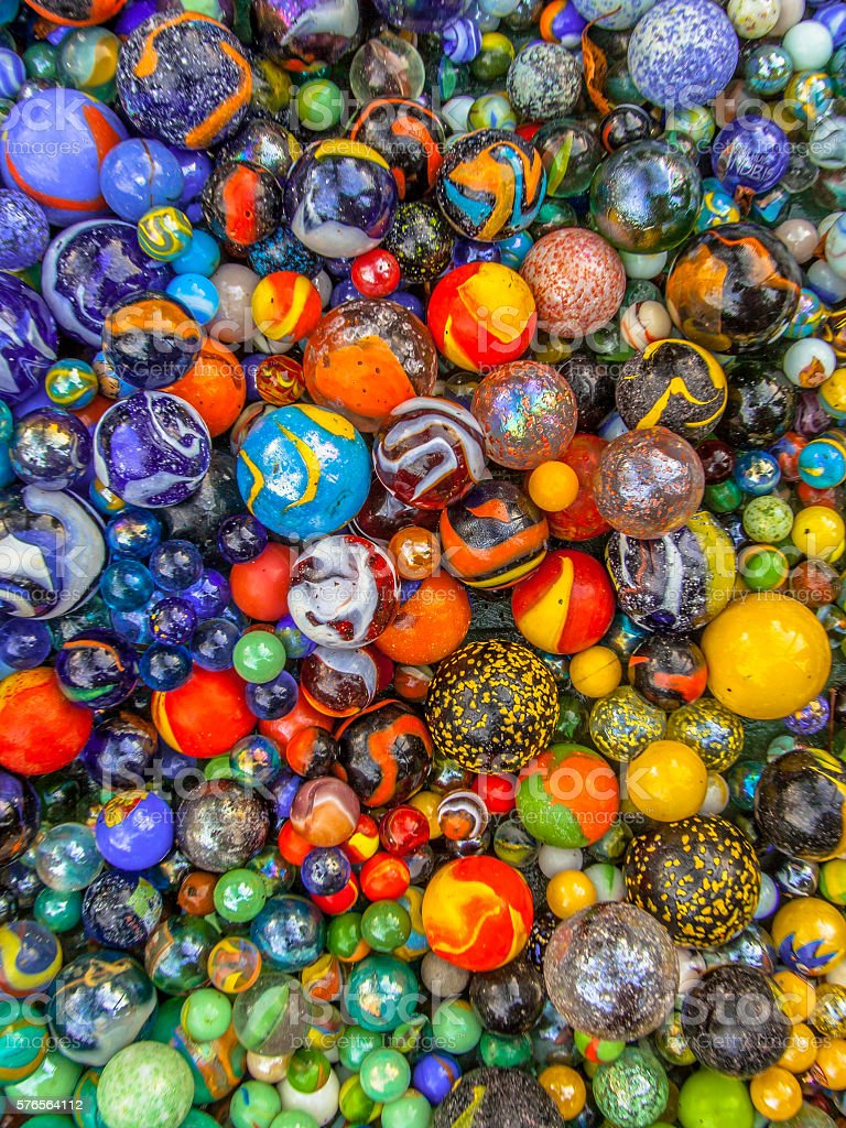 Background of marbles color diversity stock photo
