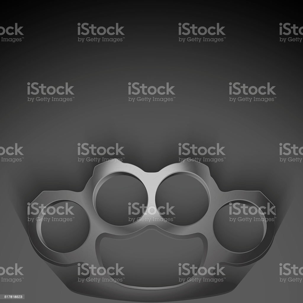 Background of Metal Brassknuckles. stock photo