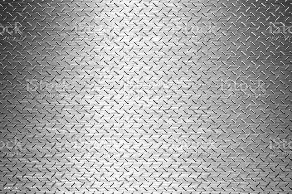background of metal diamond plate stock photo