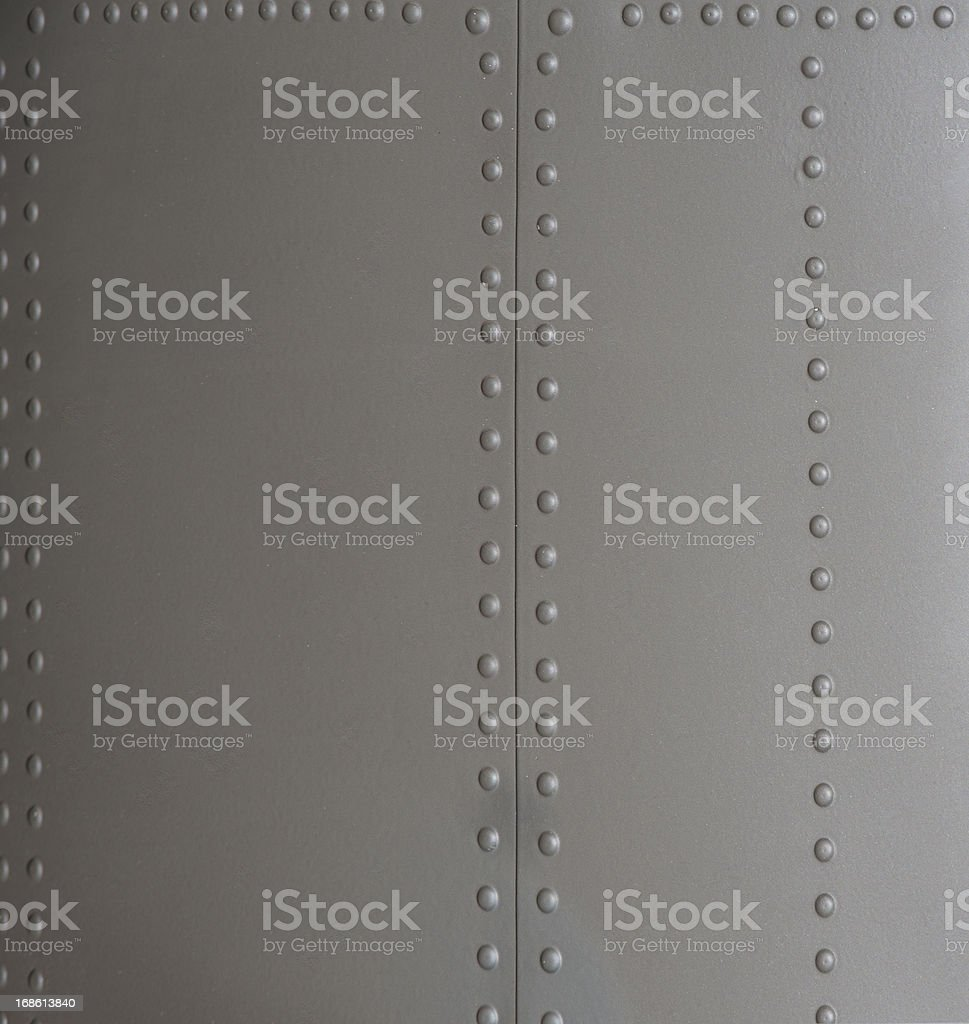 Background of Metal Siding with Rivets stock photo