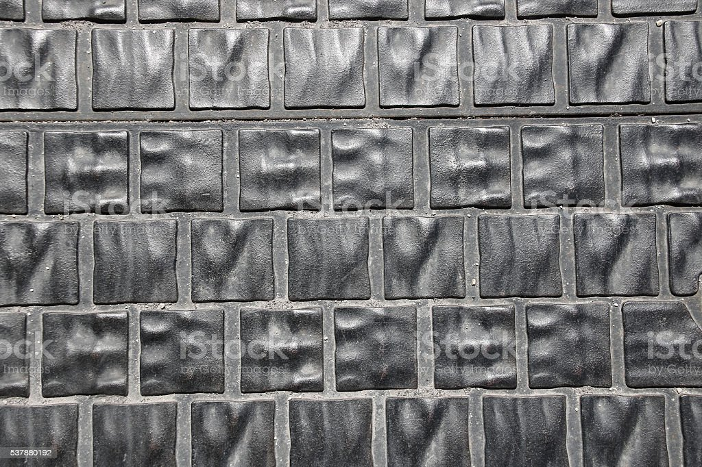 Background of metallic gray paving slabs. Budapest, Hungary. stock photo