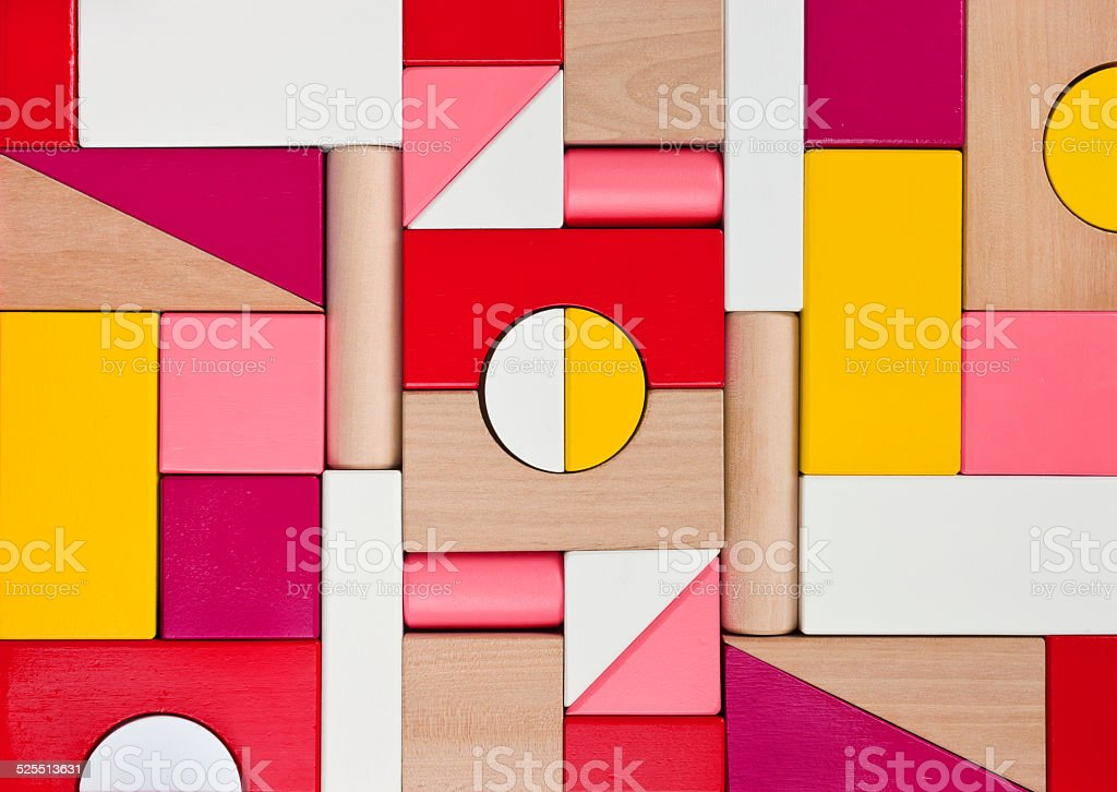 Background of multicolor wooden children toy blocks stock photo