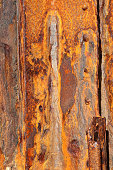 Background of old iron panels covered in rust
