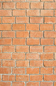 Background of old vintage orange brick wall for background texture