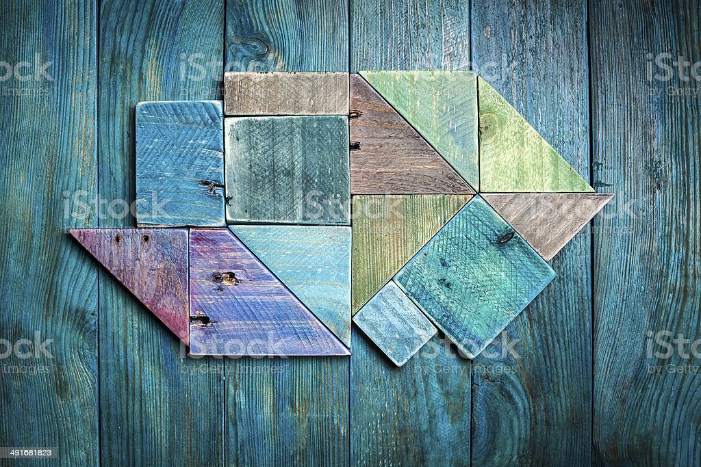 background of painted wood pieces stock photo
