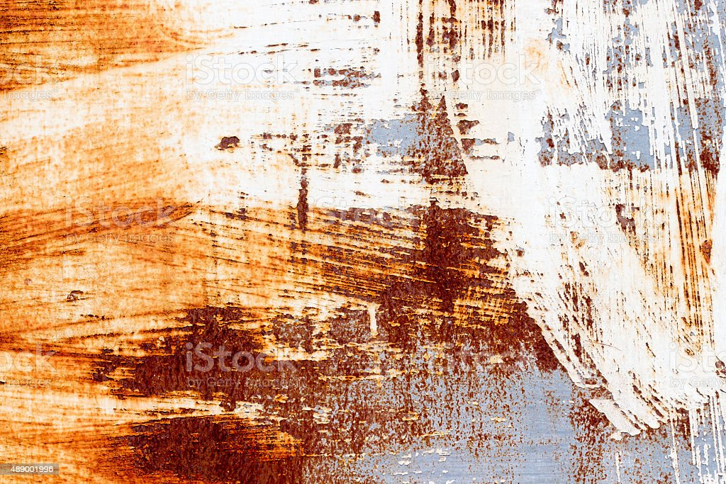 background of peeling paint and rusty old metal stock photo