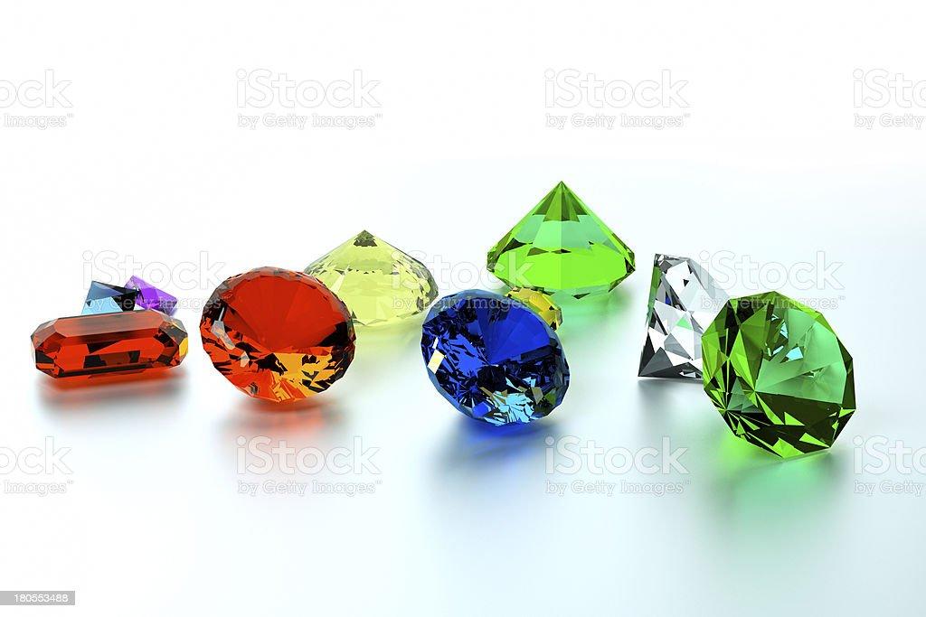 background of precious stones royalty-free stock photo