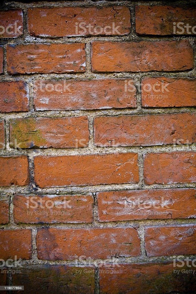 Background of red brick wall stock photo
