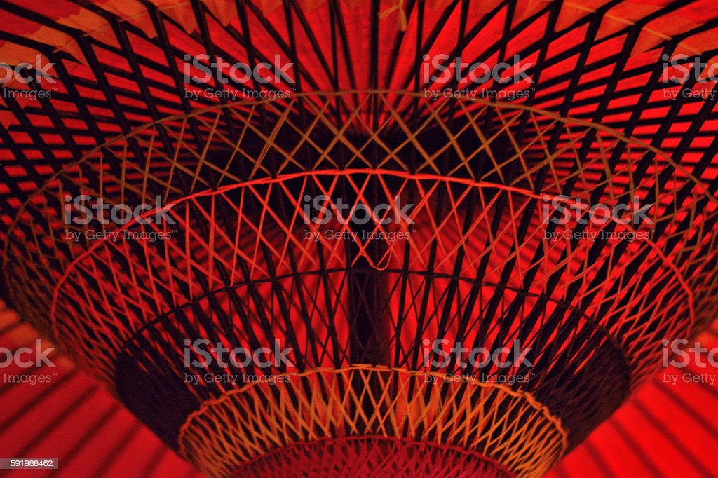 Background of red japanese parasol stock photo