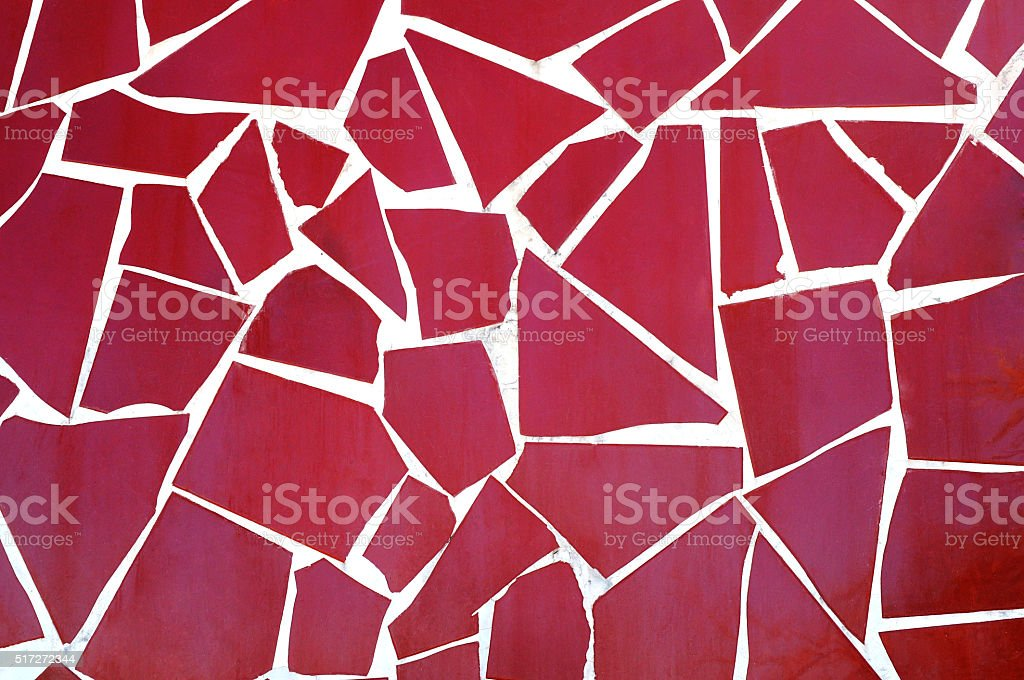 Background of red mosaic stock photo