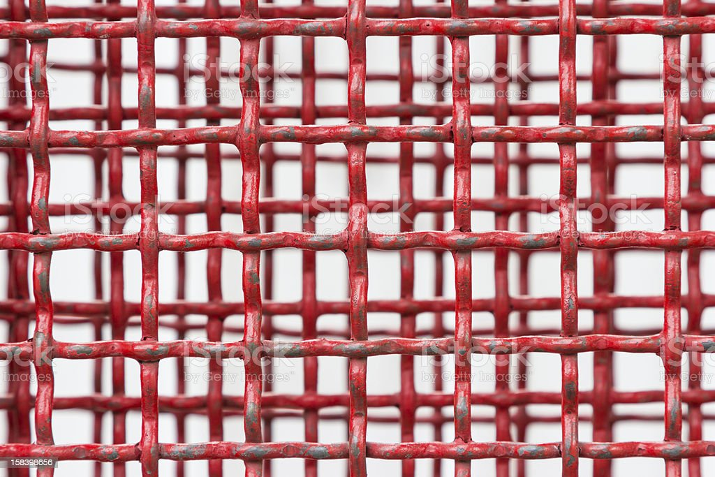 Background of red steel grating stock photo