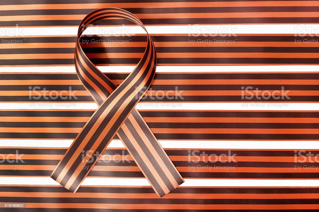 background of ribbon of Saint George stock photo