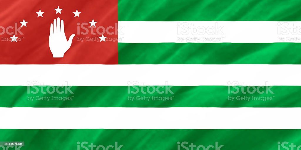 background of ripple Abkhazia flag stock photo