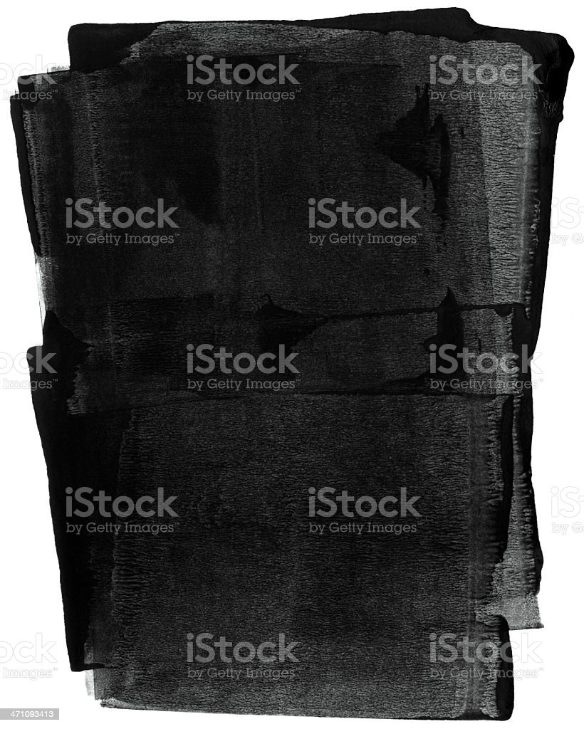 A background of rolled black ink stock photo