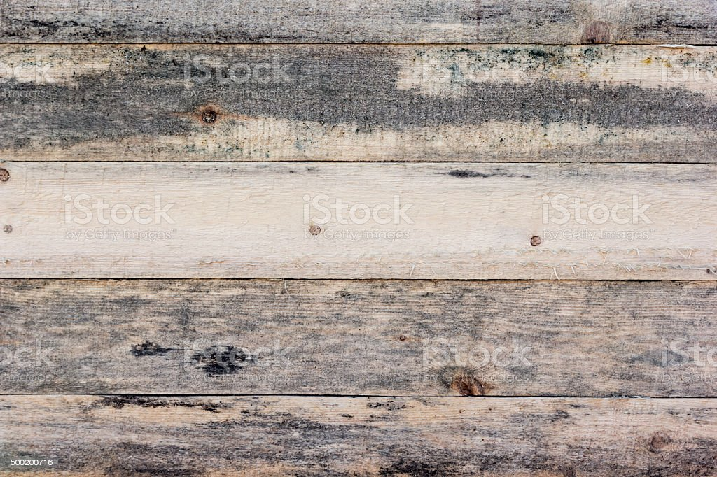 Background of rough wooden planks with mold stock photo